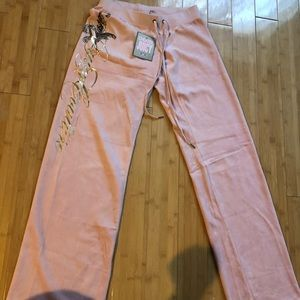 💘 New Pink juicy couture velour pants size small